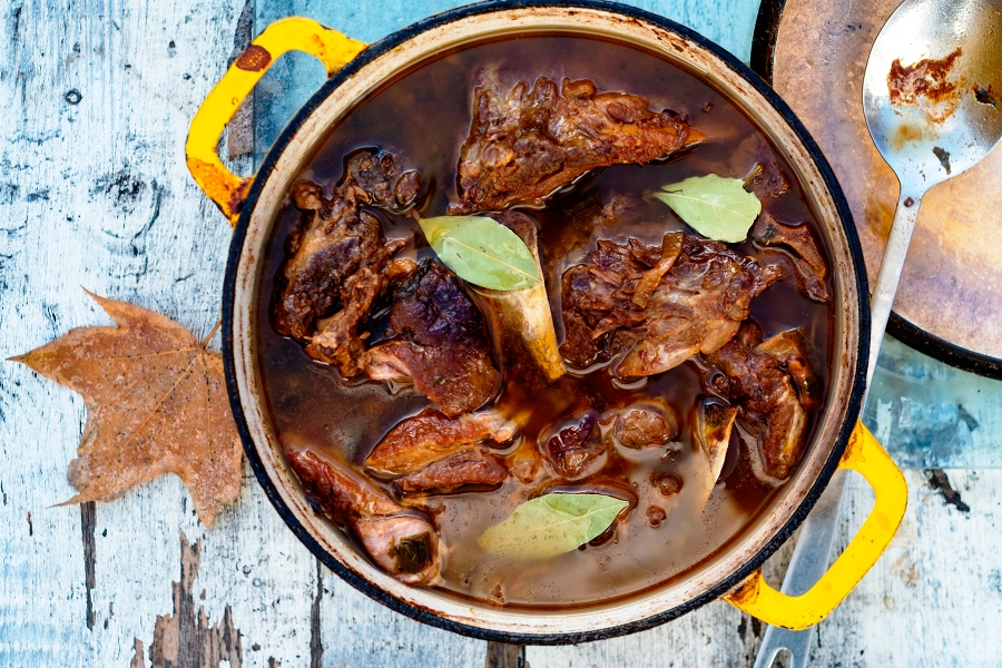 Thanksgiving Cola Braised Ham Hocks