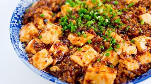 Mapo Tofu with Shiitake Mushroom(Vegan)